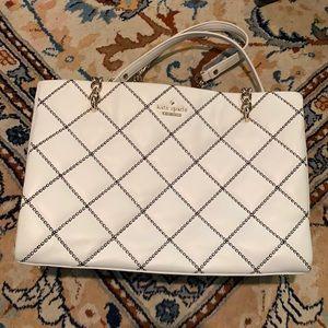 Kate spade quilted white handbag